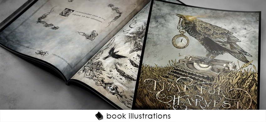 1 ink drawing book illustrations cover theoretical part