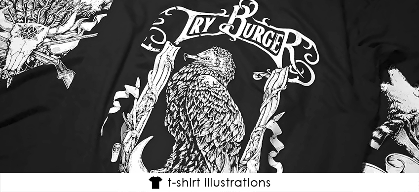 11 ink drawing tshirt illustrations theoretical part